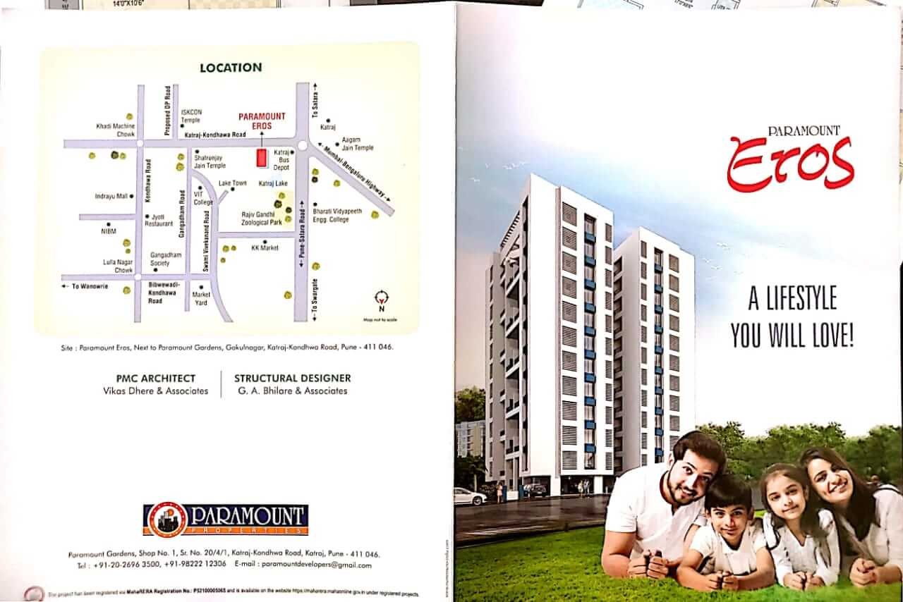 2 BHK Apartment / Flat for Sale 785 Sq. Feet at Pune