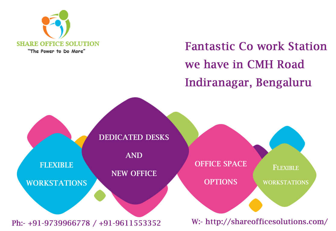 Co working Station Space for rent in halasuru Bangalore