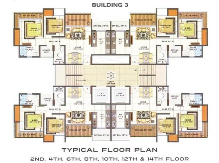 2bhk flat for rent at arihant city in bhiwandi baypass near by saibaba mandir road.