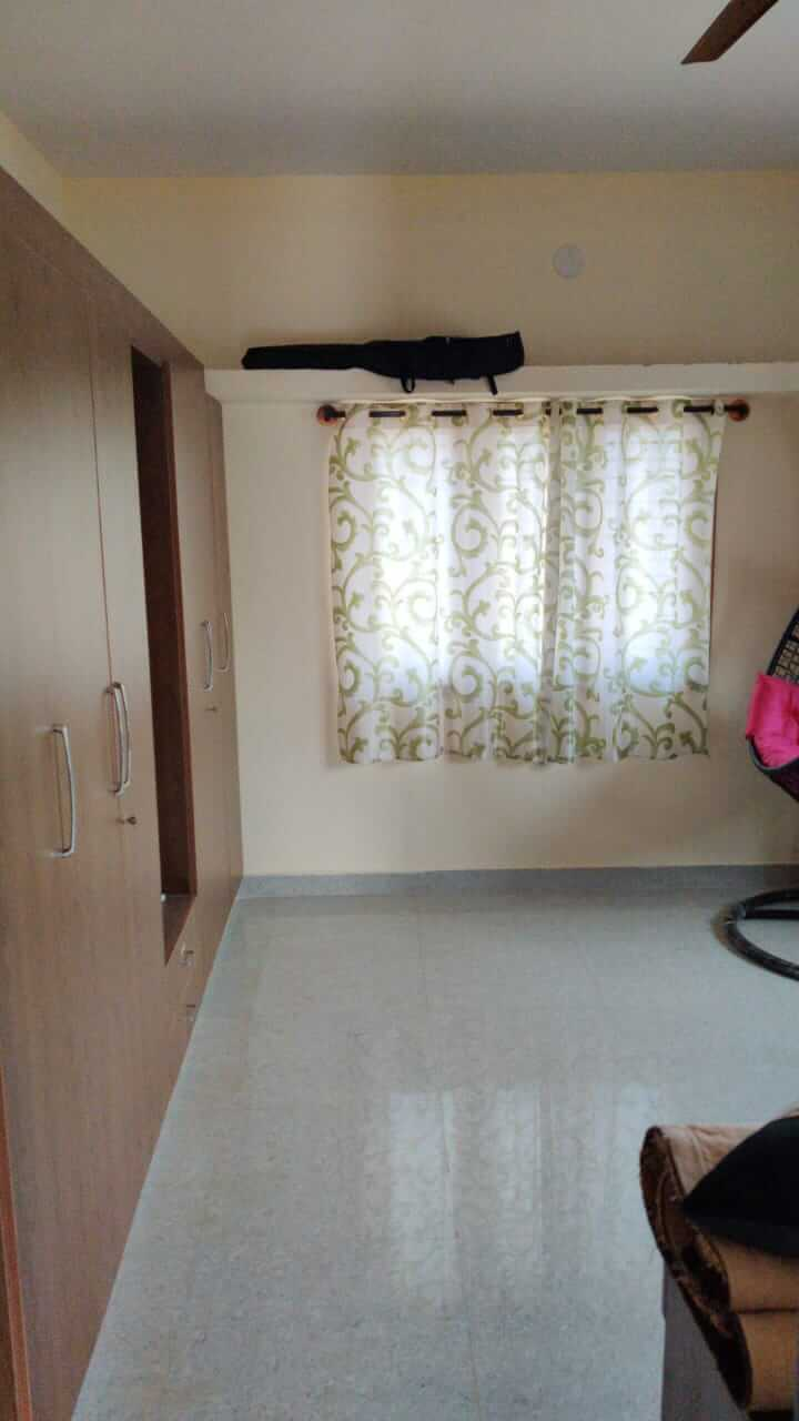 2 BHK house for rent with balcony , bedroom with semi furnished