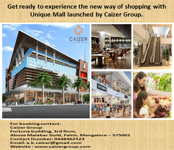 UNIQUE MALL NH 66 , Thokottu, Mangalore launched by Caizer Group