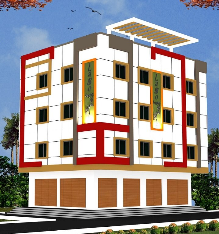 East facing ,Corner commercial building on DSNR Saibaba Temple road.