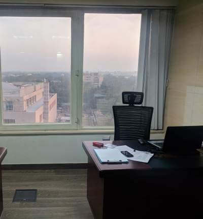RAISINA ROAD office available for  lease in Meridien Tower - 1200 sqft  A+ CRE
