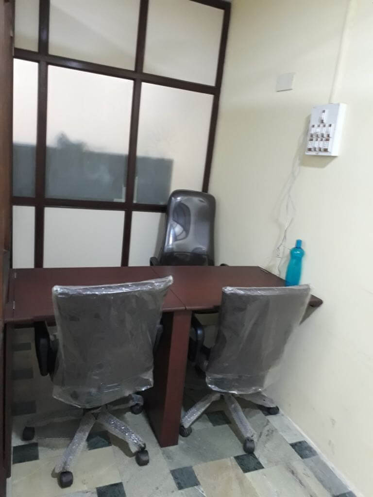 airconditioned chambers,with all basic amenities,free maintennance and electricity.
