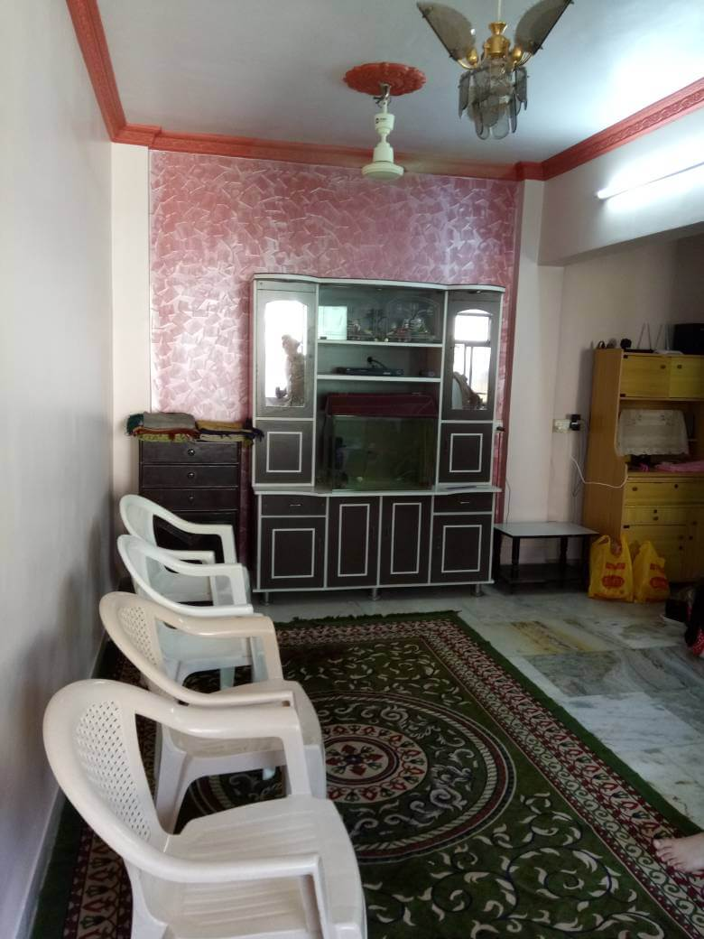 2bhk flat with 1 master bedroom(attached bathroom) & 1 bedroom with attached balcony