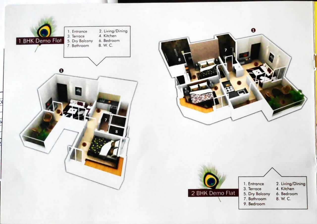 1 BHK Apartment / Flat for Sale 582 Sq. Feet at Pune, Wagoli