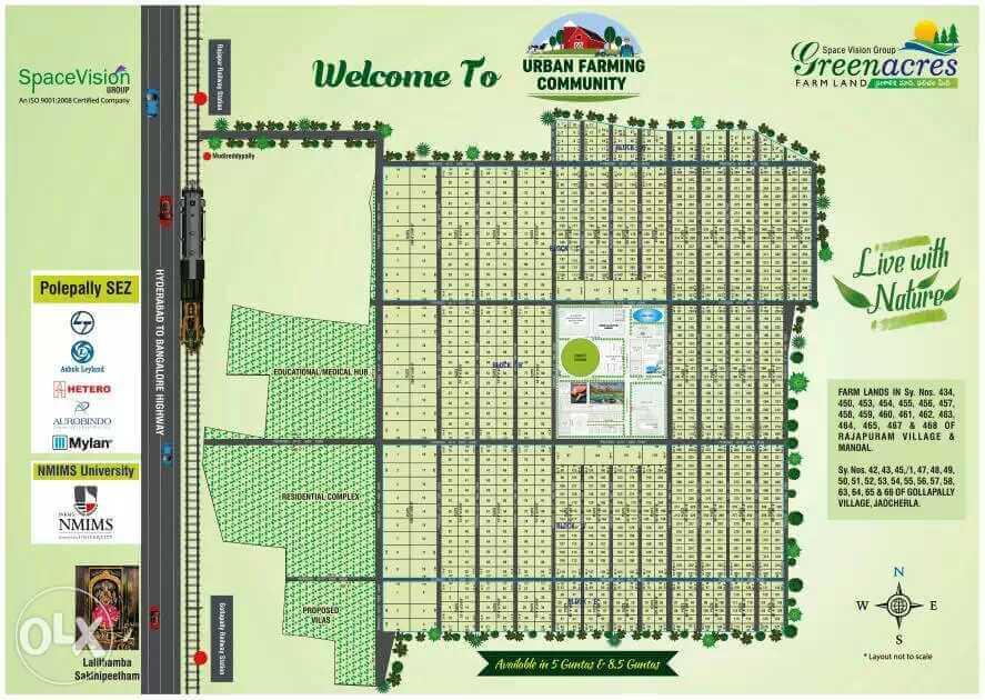 Space Vision Group Green Acres | Urban Farming Community | Plots In Shadnagar Municipality