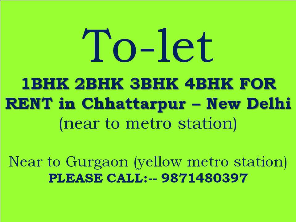 3bhk floor for rent in builder floor in chattarpur flat for rent in chattarpur p