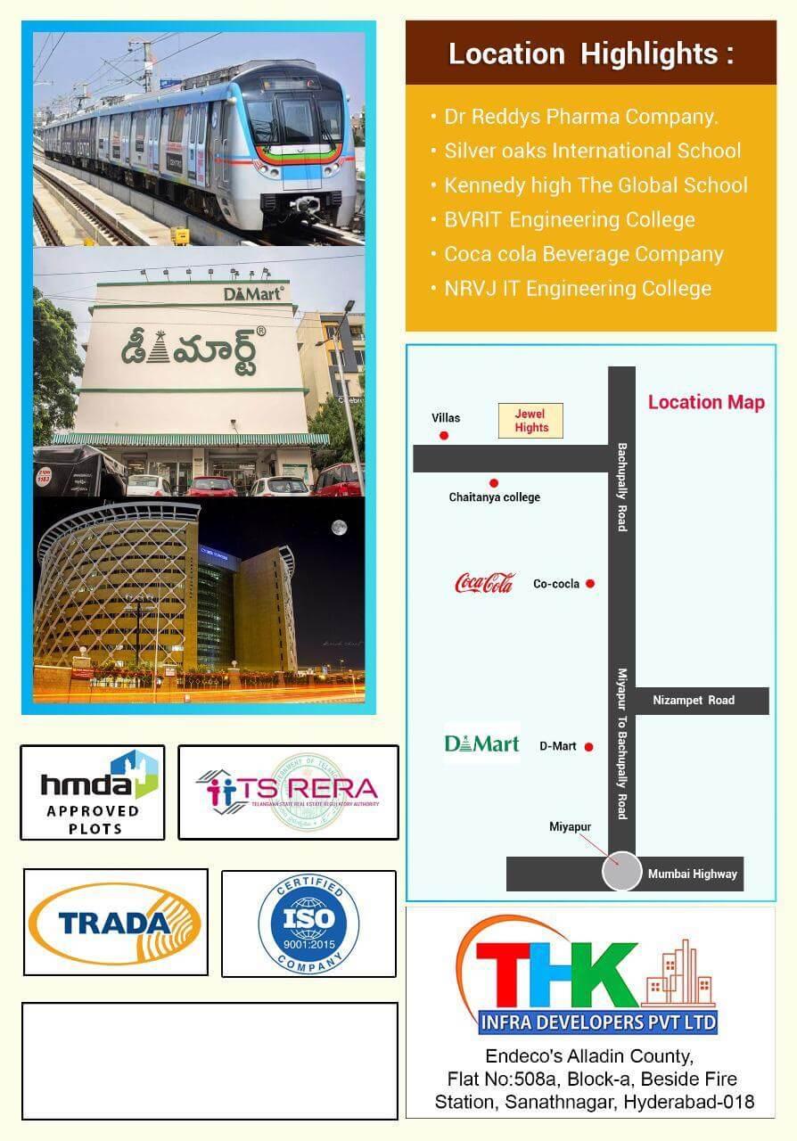 2 BHK Apartment / Flat for Sale 1165 Sq. Feet at Hyderabad, Bachupalli