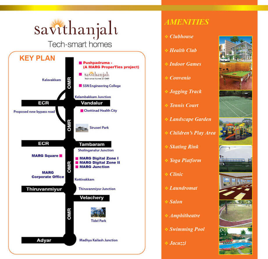 Smart Hi-tech 1/2/3 BHK Savithanjali Apartments at Rs.19.06 Lac Onwards at Old Mahabalipuram Road, Chennai.