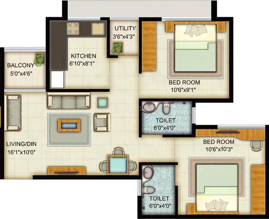 Adani builder launches a new residential project Adani Pratham 2 BHK apartments 905 sq. feet